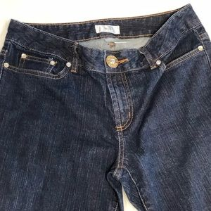 Metro 7 women's like new jeans with bling